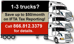 Save up to $50/month on IFTA Tax Reporting!